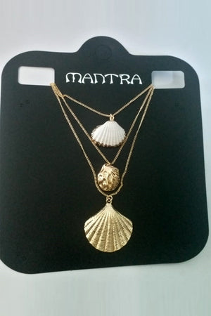 Mantra Pakistan 3 Layer Shell Necklace | ACCESSORIES