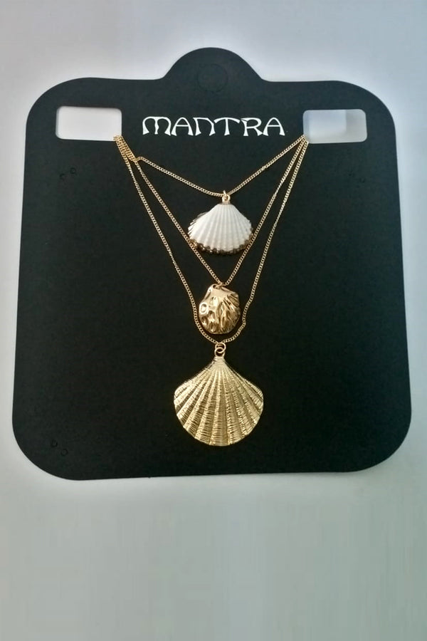 3 Layer Shell Necklace - Mantra Pakistan