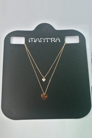 Mantra Pakistan 2 Layer Necklace With Heart | ACCESSORIES