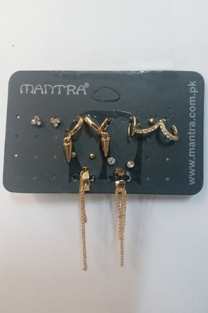 Mantra Pakistan Earring Cuff Set | ACCESSORIES