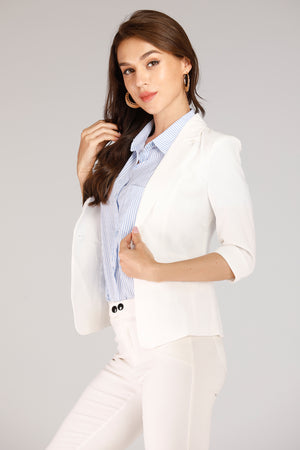 Mantra Pakistan White Blazer | OUTERWEAR