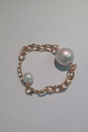 Chain And Pearl Bracelet - Mantra Pakistan