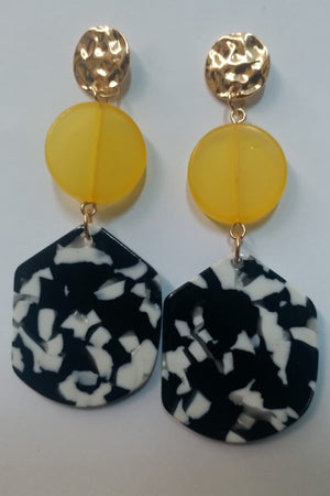 Mantra Pakistan 3 Tier Circle Earrings | ACCESSORIES