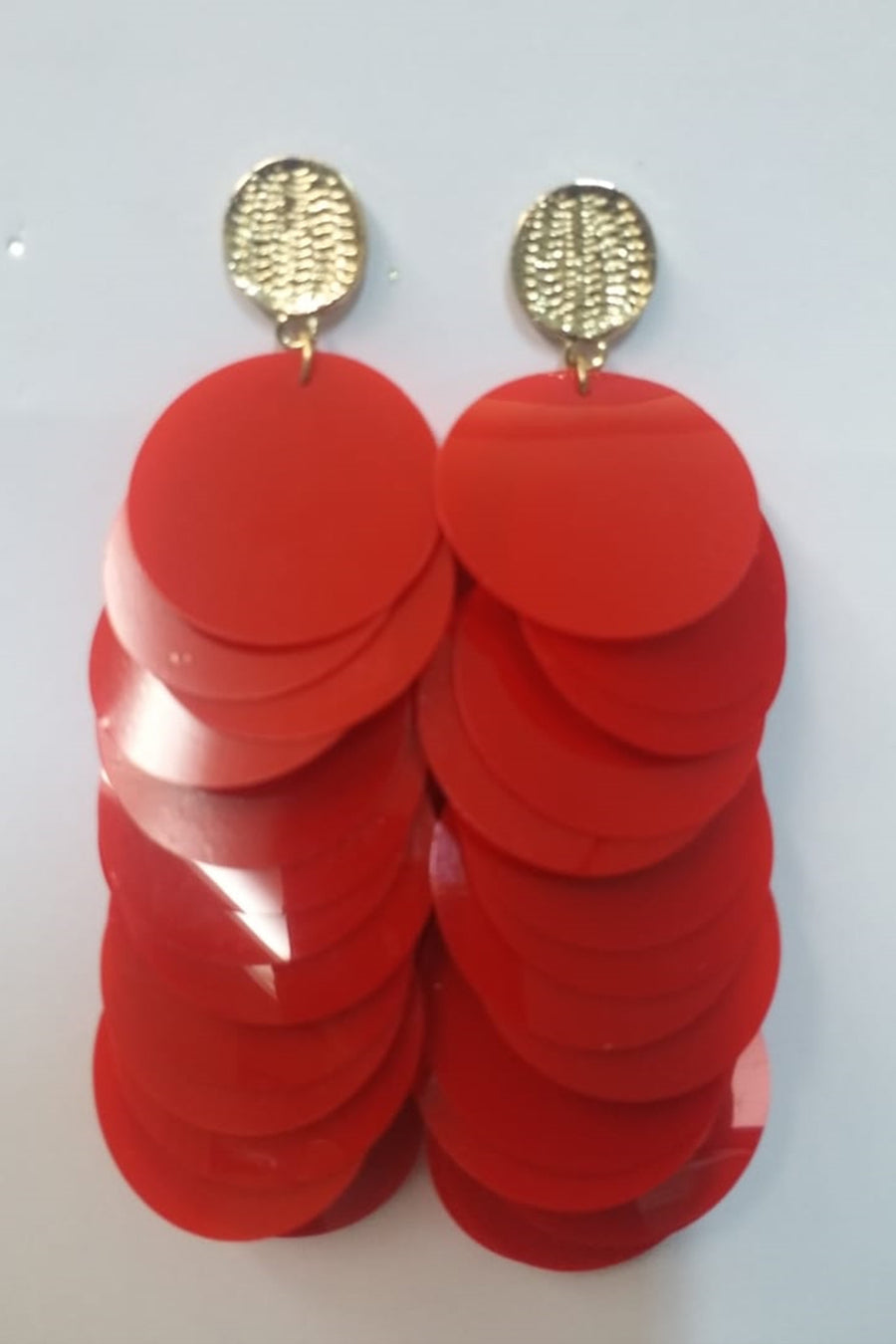 Red Sequin Earrings
