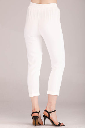 Mantra Pakistan WRINKLE RESISTANT SOLID COLORED PANTS | BOTTOMS