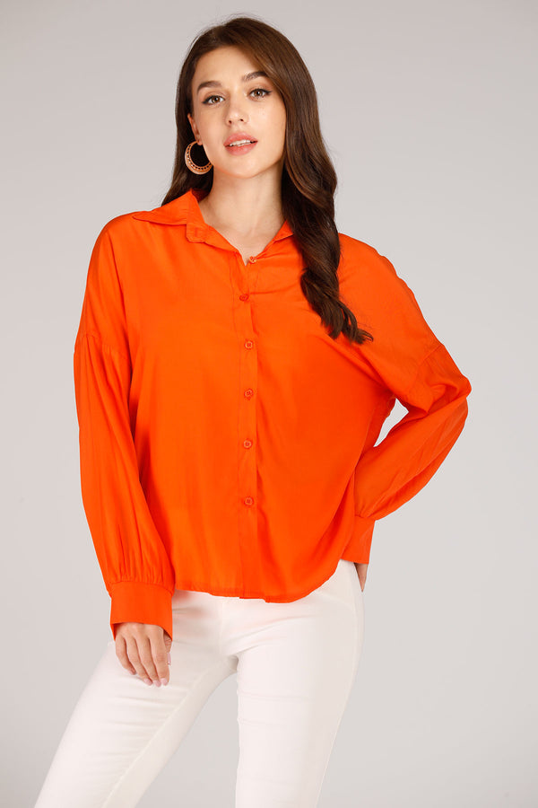Mantra Pakistan Orange Shirt | TOPS