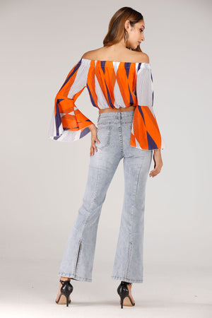 Flare Jeans Denim - Mantra Pakistan