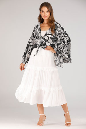 Mantra Pakistan White Skirt | BOTTOMS