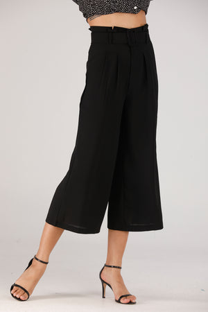 Black Pants With Belt - Mantra Pakistan