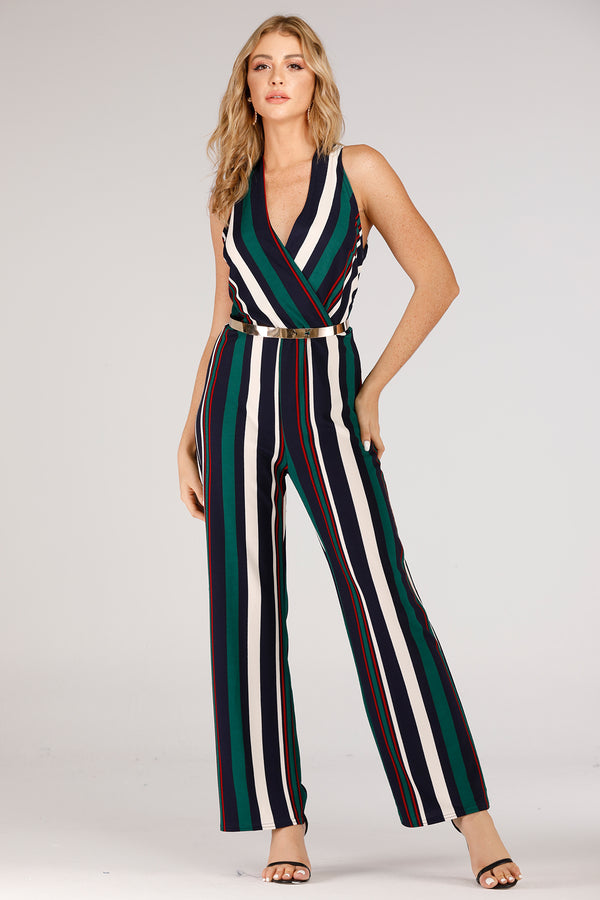 Mantra Pakistan Stripe Jumpsuit | DRESS