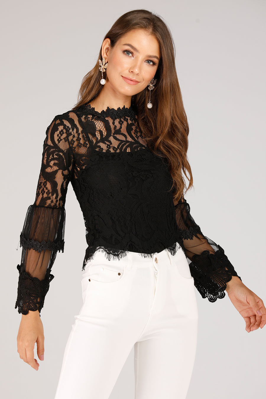 Lace Mesh Top