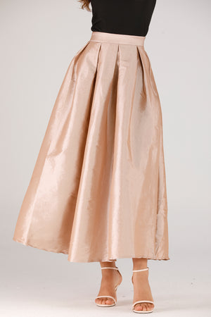 Mantra Pakistan Beige Tulle Skirt | BOTTOMS