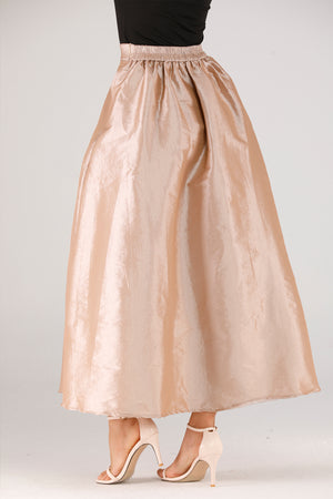 Beige Tulle Skirt - Mantra Pakistan