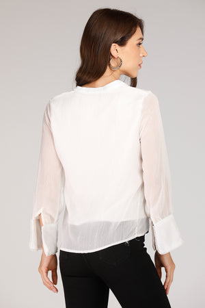 White Gold Foil Top
