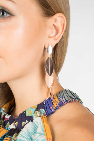 Mantra Pakistan LEAVES BUNCH EARRINGS | ACCESSORIES