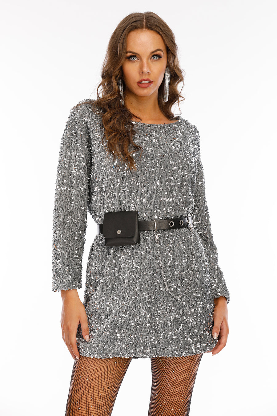 Mantra Pakistan Sequin Mini Dress | Western Wear