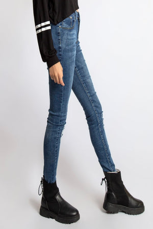 Mantra Pakistan Blue jeans with small rips | Western Wear
