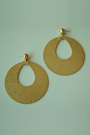 Mantra Pakistan Textured Disc Cutout Earring | ACCESSORIES
