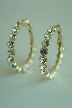 Mantra Pakistan Diamond Hoops | ACCESSORIES