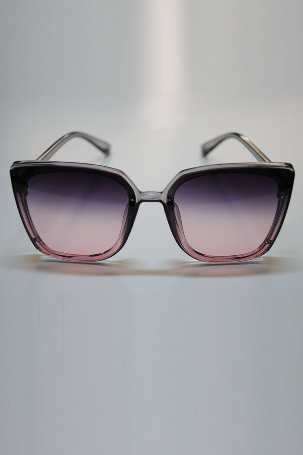 Mantra Pakistan Pink to Black Gradient Sunglasses | ACCESSORIES