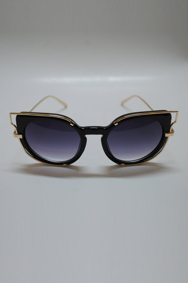 Mantra Pakistan Cat Eye with Golden Wire Sunglasses | ACCESSORIES