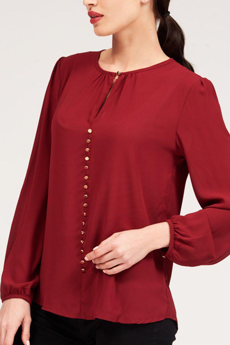 Mantra Pakistan BLOUSE WITH GOLDEN BUTTONS | TOPS