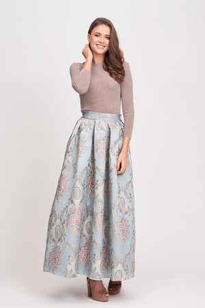 Mantra Pakistan FLORAL EMBROIDERED SKIRT | BOTTOMS