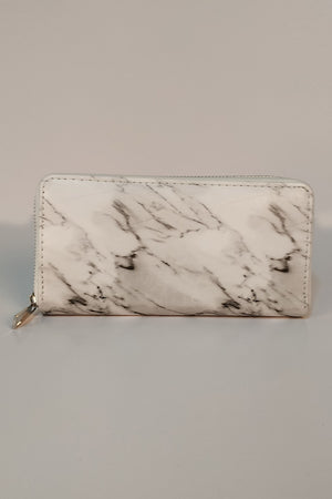 WHITE MARBLE CLUTCH