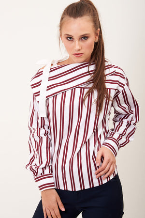Mantra Pakistan STRIPED TOP ONE SHOULDER | TOPS