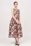 FLORAL PRINTED TUELLE DRESS