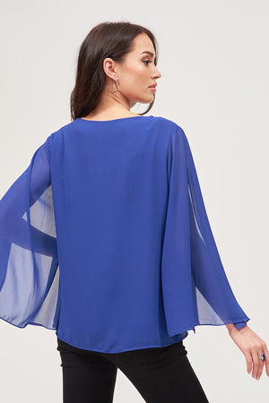 Mantra Pakistan CHIFFON OPEN SLEEVES TOP | TOPS