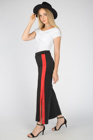 Mantra Pakistan LOOSE FITTED PANTS WITH SIDE SLIT | BOTTOMS