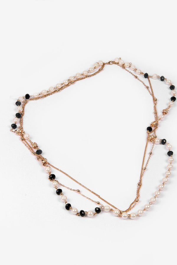 LONG NECKLACE WITH PEARLS - Mantra Pakistan