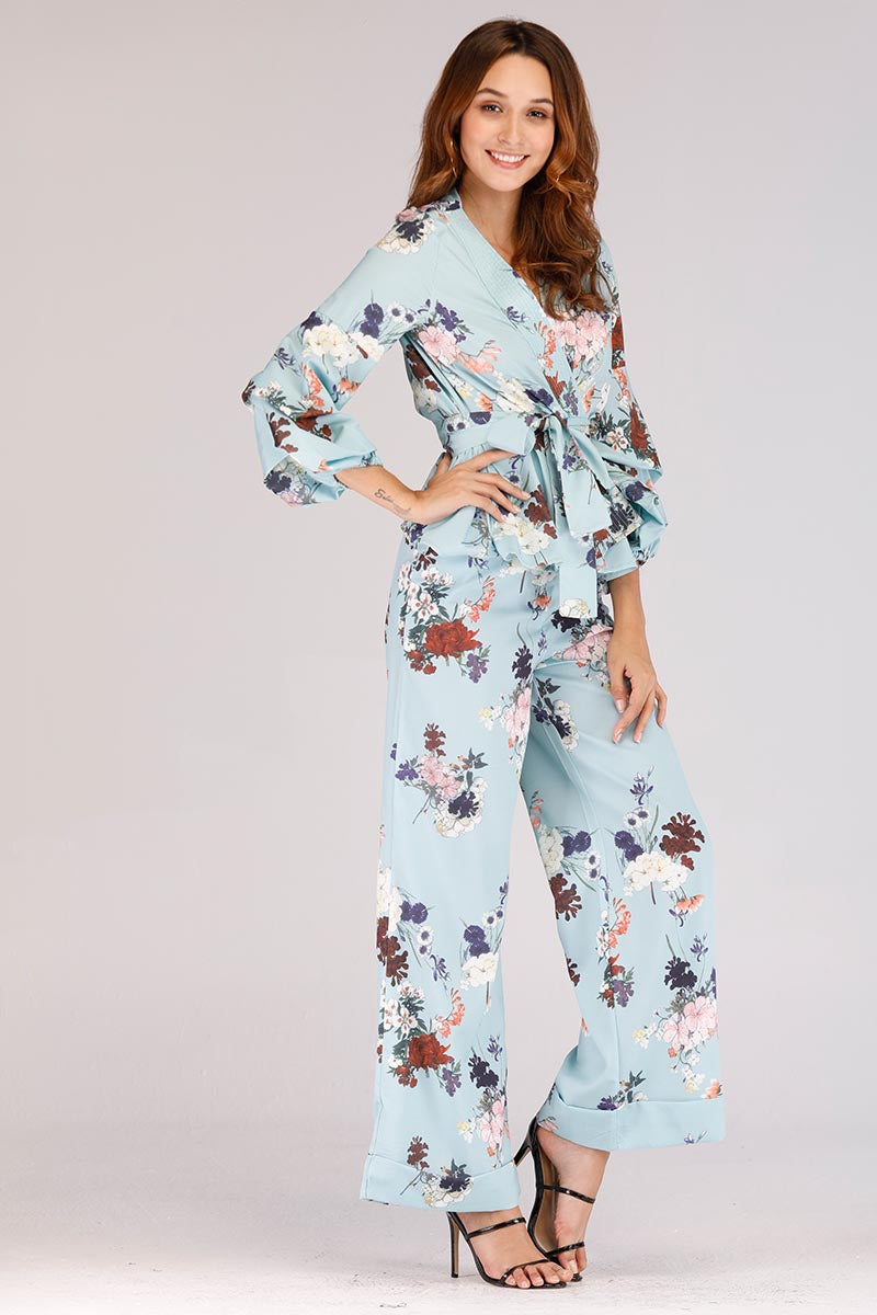 Mantra Pakistan BLUE FLORAL SUIT | DRESS