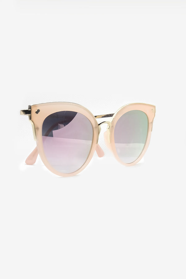 PINK DUAL SHADE OVER SIZED SUNGLASSES