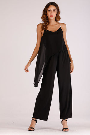 Mantra Pakistan ASYMMETRICAL CHIFFON JUMPSUIT | DRESS