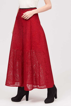 Mantra Pakistan LONG LACE SKIRT | BOTTOMS