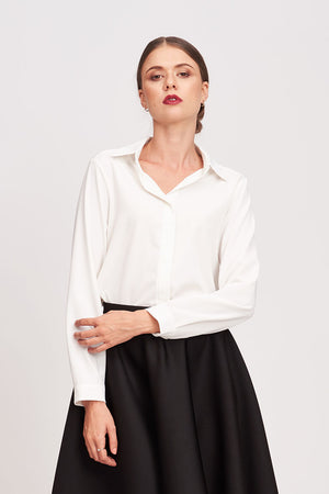 Mantra Pakistan WHITE BUTTON DOWN BLOUSE | TOPS