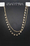 CHAIN AND DIAMANTE CHOKER