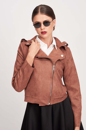 BROWN LEATHER JACKET - Mantra Pakistan