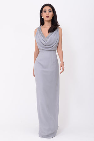 Mantra Pakistan GREY LONG DRESS | DRESS