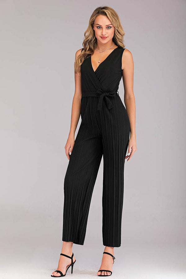 V-NECK KNITTED JUMPSUIT