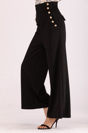 BLACK HIGH WAIST PANTS - Mantra Pakistan