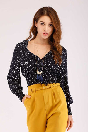 Mantra Pakistan POLKA DOT CROP TOP | TOPS