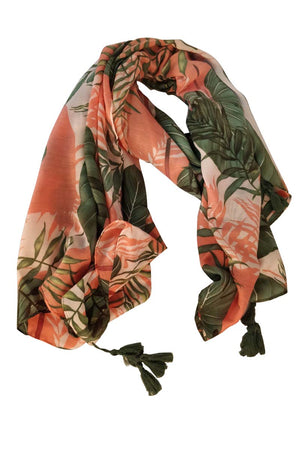 Mantra Pakistan TROPICAL PRINTED SCARF | ACCESSORIES