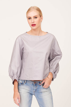 Mantra Pakistan GREY SATIN TOP | TOPS