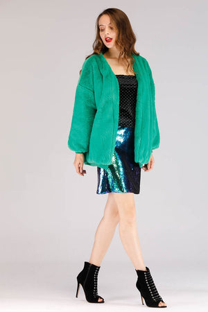 Mantra Pakistan SHINY SEQUINS MINI SKIRT | BOTTOMS