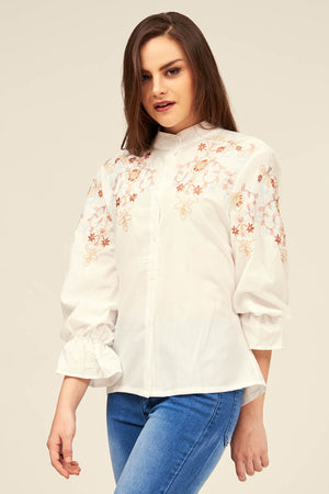 Mantra Pakistan EMBROIDERED SHIRT | TOPS