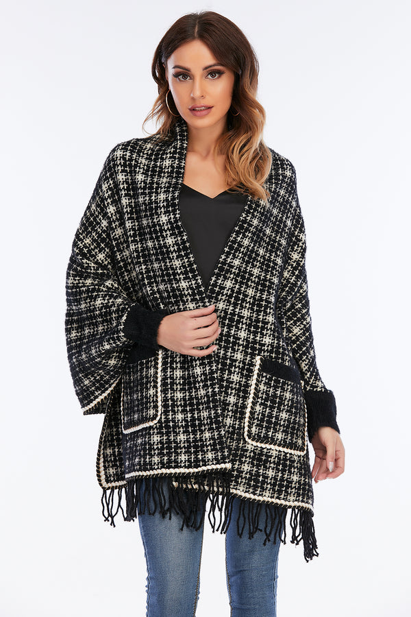 Mantra Pakistan Houndstooth Shrug | Western Wear
