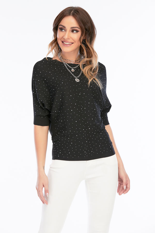 Mantra Pakistan RIBBED SWEATER WITH STUDS | Western Wear